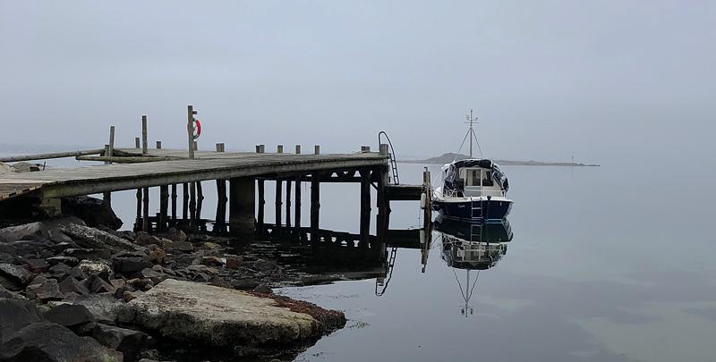 Bryggan i Kappelhamn är avstängd