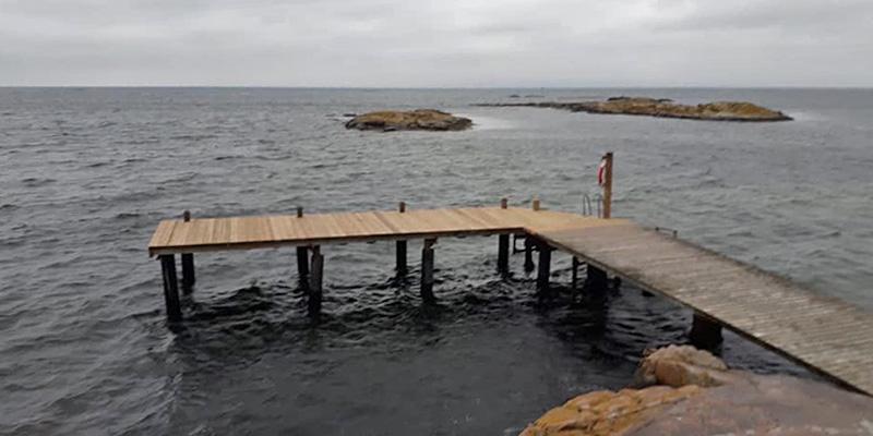 Kappelhamnsbryggan klar